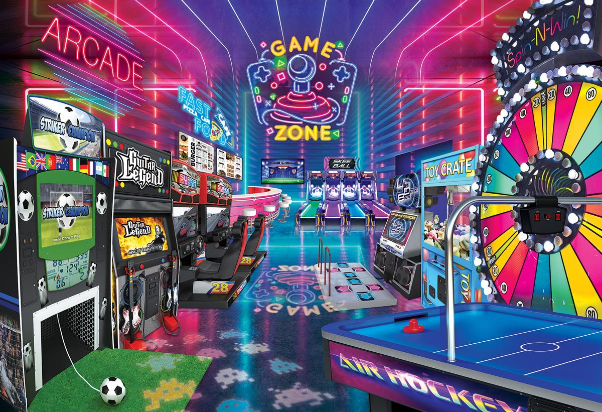 Fun Zone Video Game Jigsaw Puzzle