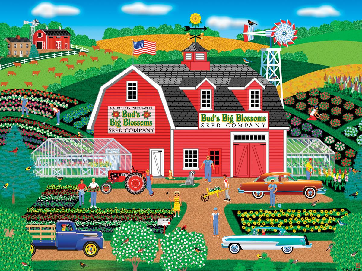Bud's Big Blossoms Farm Jigsaw Puzzle