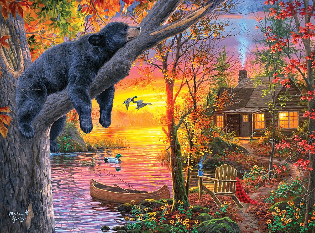 Abraham Hunter - Sleepy Bears Jigsaw Puzzle