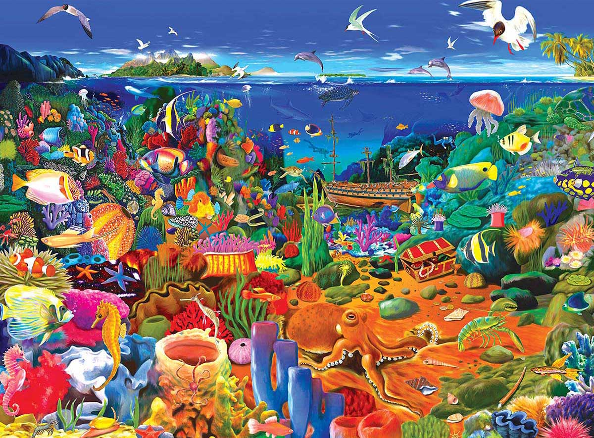 Amazing Coral Reef Under The Sea Jigsaw Puzzle