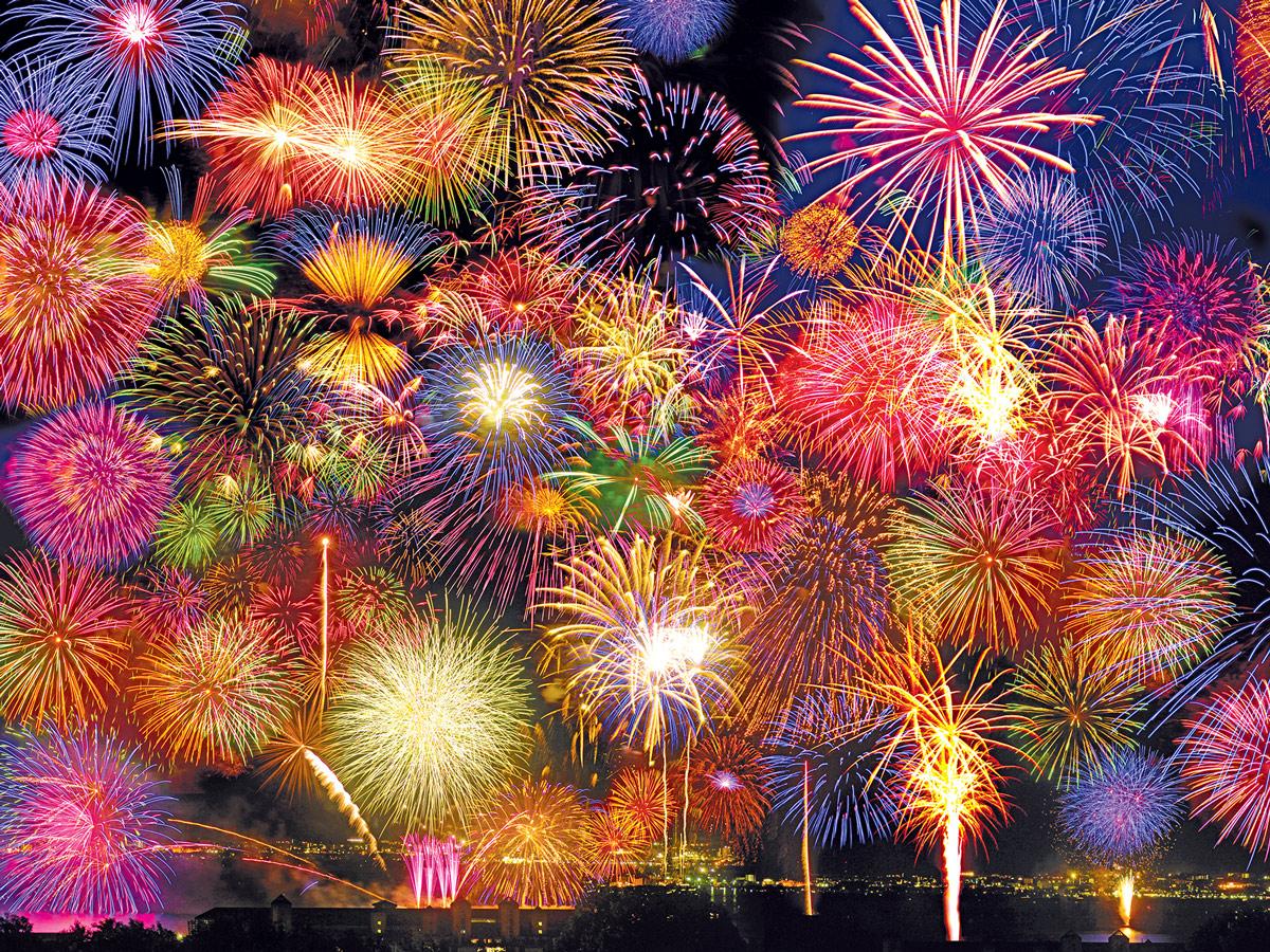 Fireworks Symphony Fireworks Jigsaw Puzzle