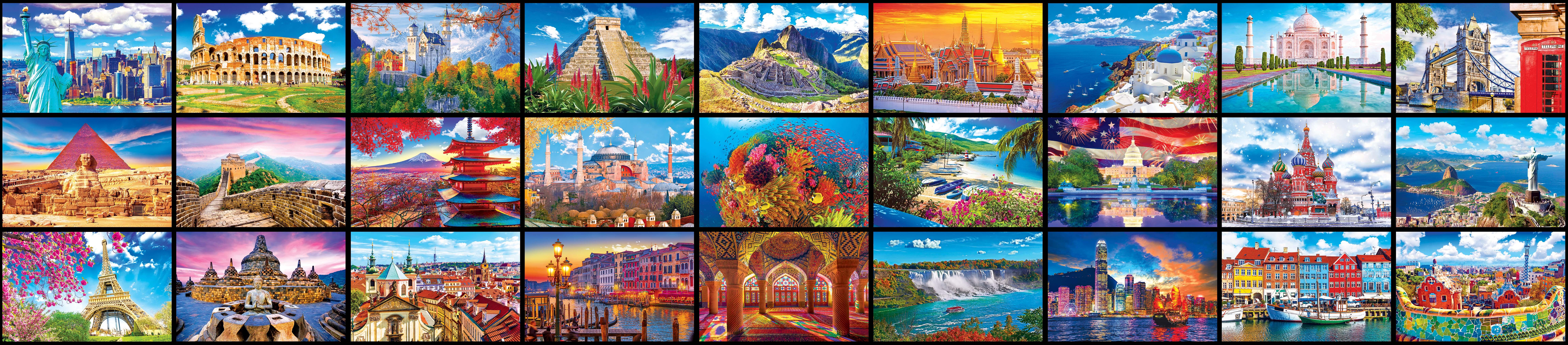 Kodak World's Largest Puzzle – 27 Wonders of the World Travel Jigsaw Puzzle