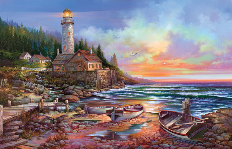 Beckoning Lighthouses Jigsaw Puzzle