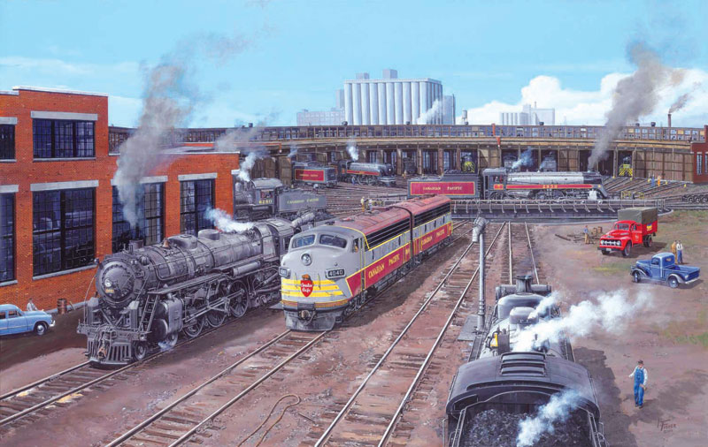 Comings & Goings at John Street Trains Jigsaw Puzzle