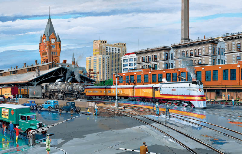 Speedliner Trains Jigsaw Puzzle