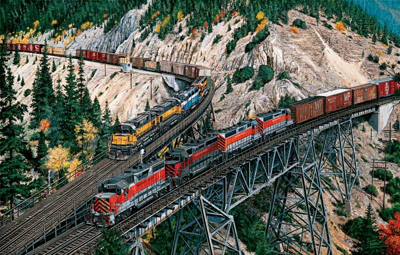 Keddie Wye Meet Mountains Jigsaw Puzzle