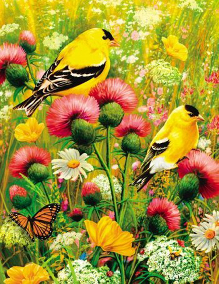 Puzzles to Remember - Goldfinch Birds Children's Puzzles
