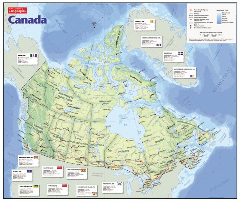 Map of Canada Canada Jigsaw Puzzle