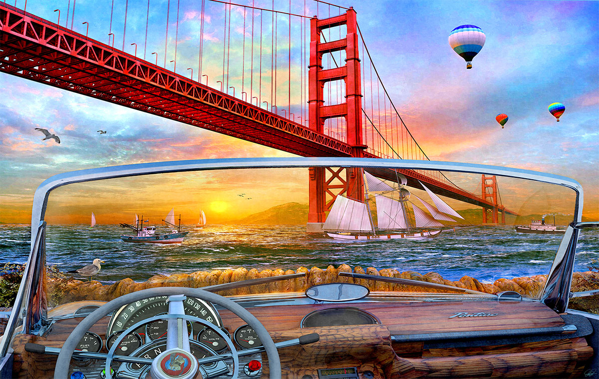 Golden Gate Adventure San Francisco Jigsaw Puzzle