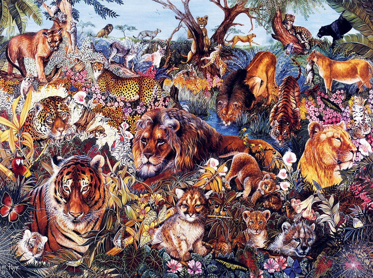 Animal Fantasia - Scratch and Dent Animals Jigsaw Puzzle