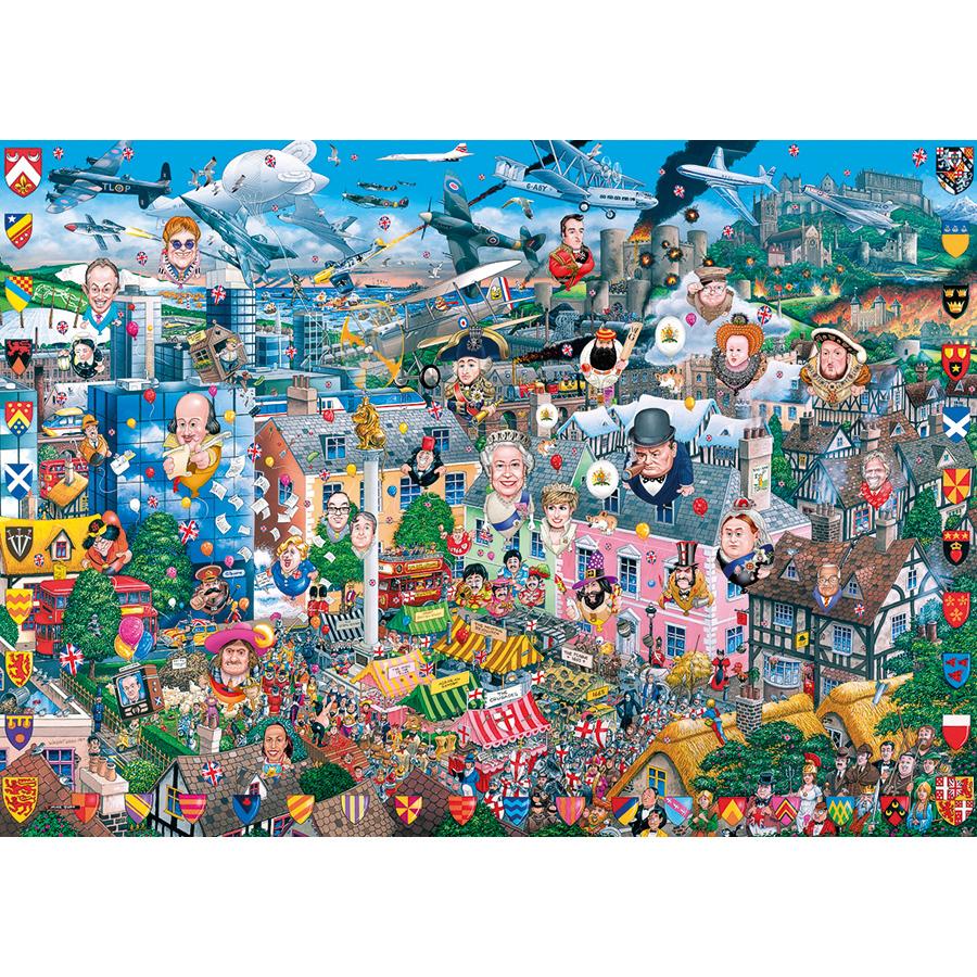 I Love Great Britain Cartoons Jigsaw Puzzle