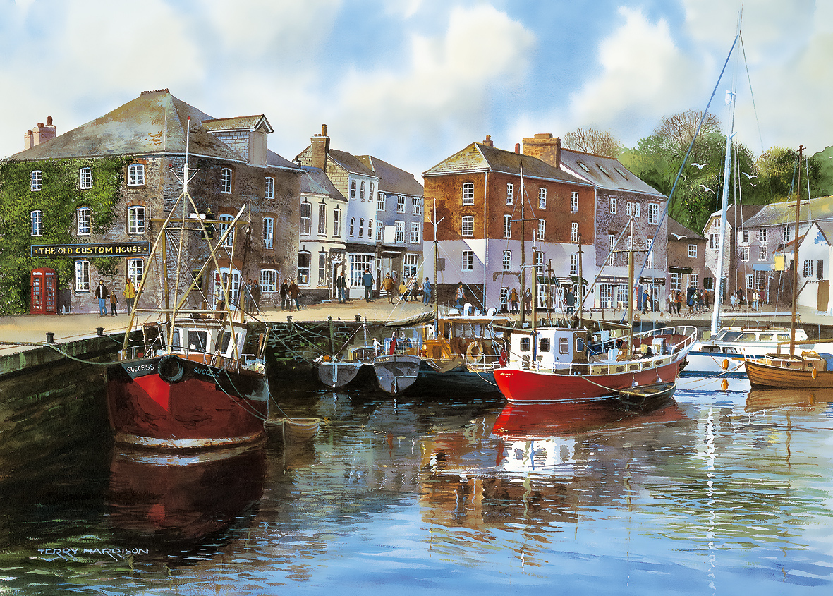 Padstow Harbour - Scratch and Dent Boats Jigsaw Puzzle