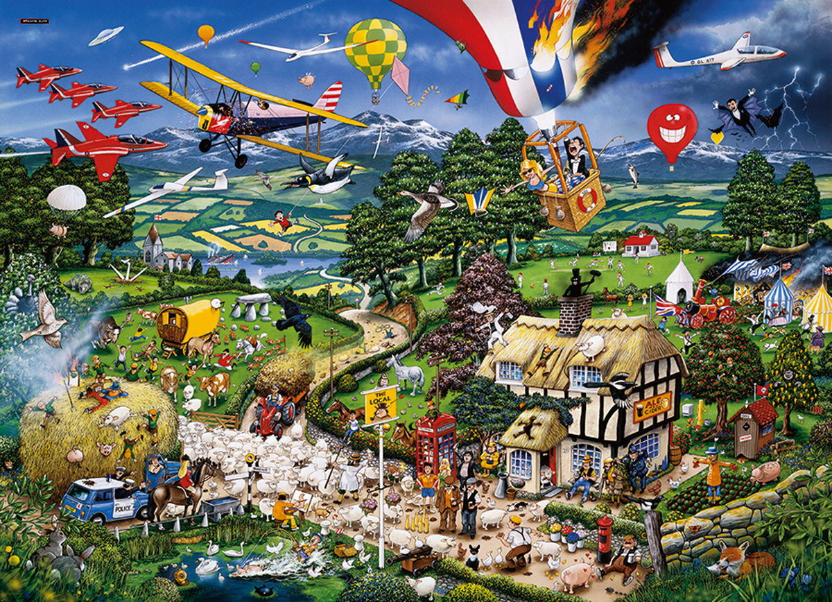 I Love the Country Countryside Jigsaw Puzzle