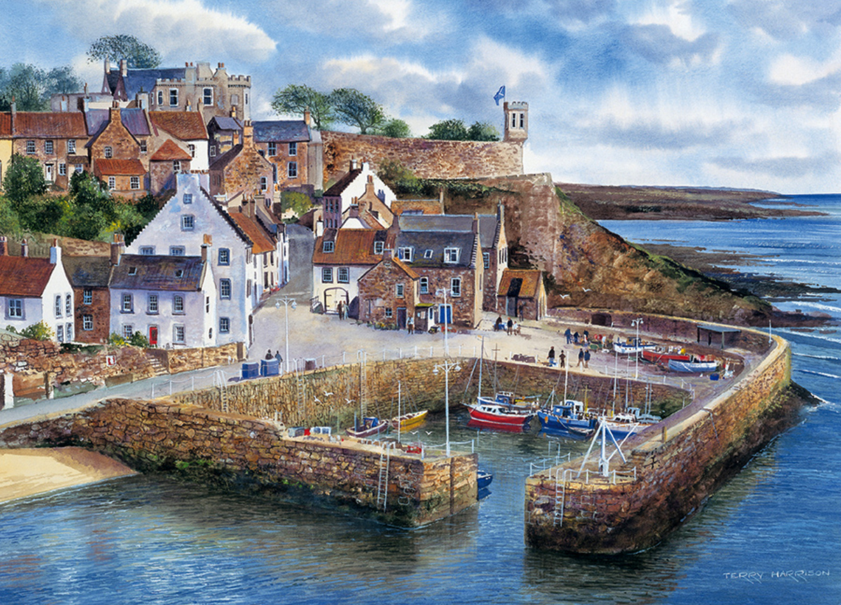 Crail Harbour Boats Jigsaw Puzzle