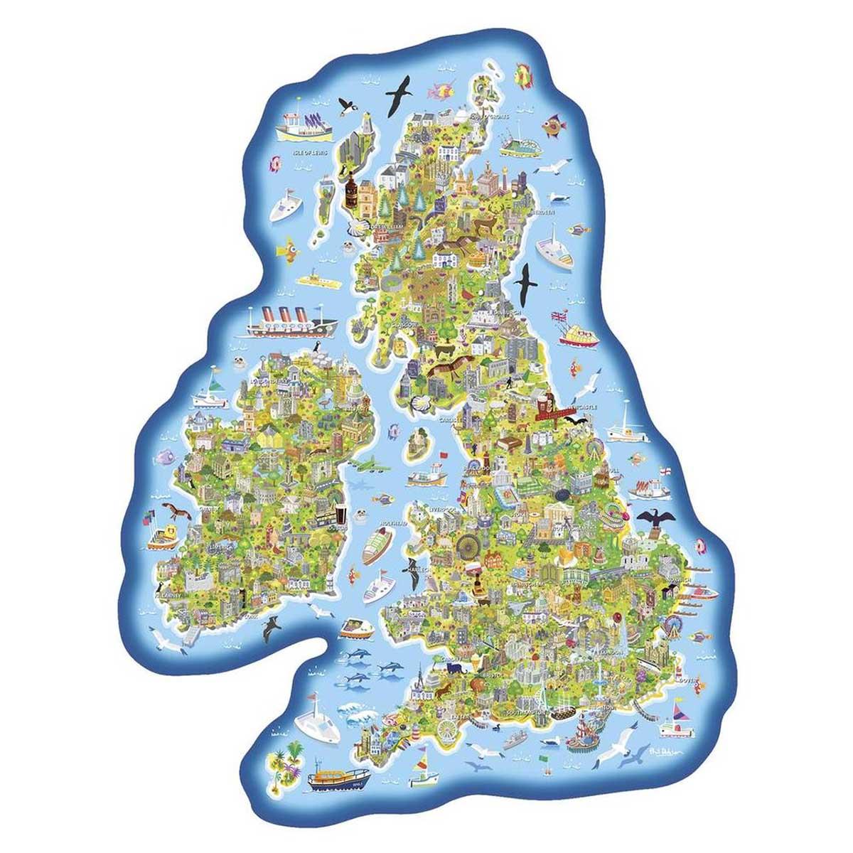 Jigmap Britain & Ireland Maps / Geography Jigsaw Puzzle