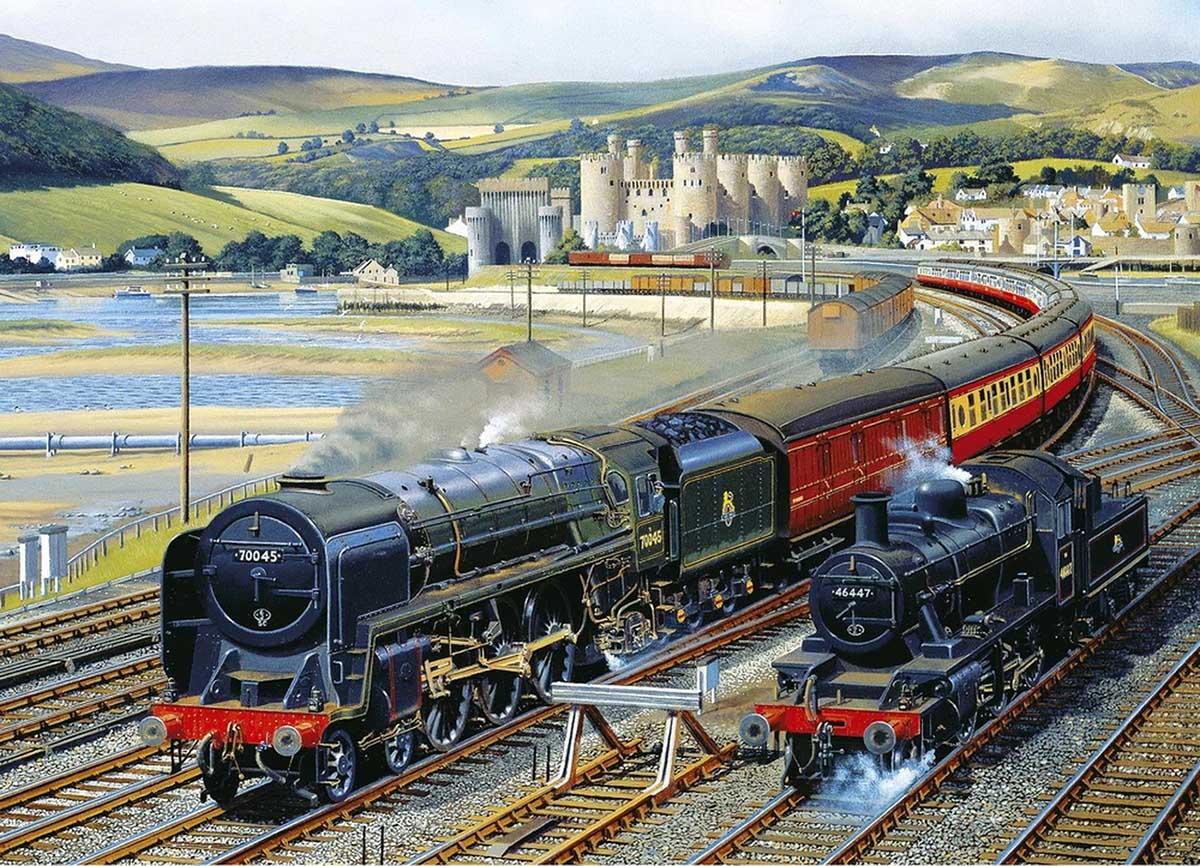 Gateway to Snowdonia Trains Jigsaw Puzzle