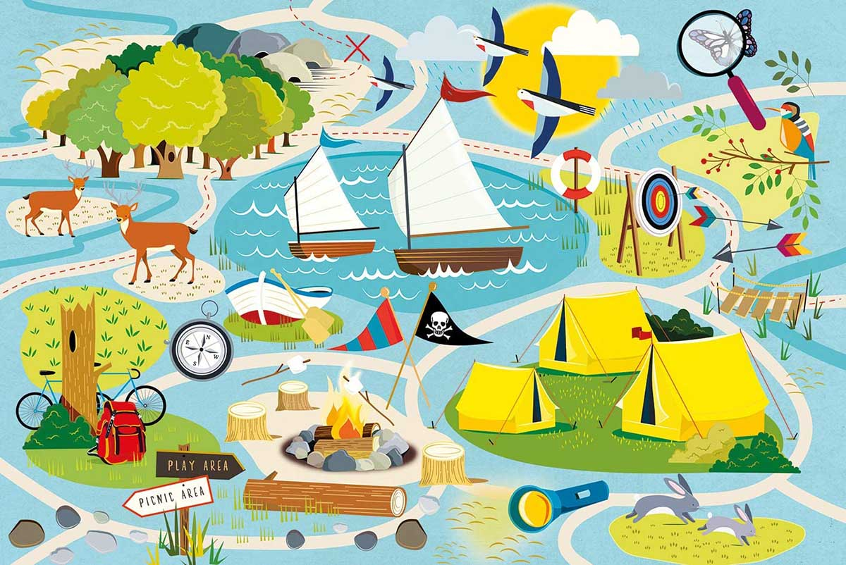 Camp Gibson Summer Jigsaw Puzzle