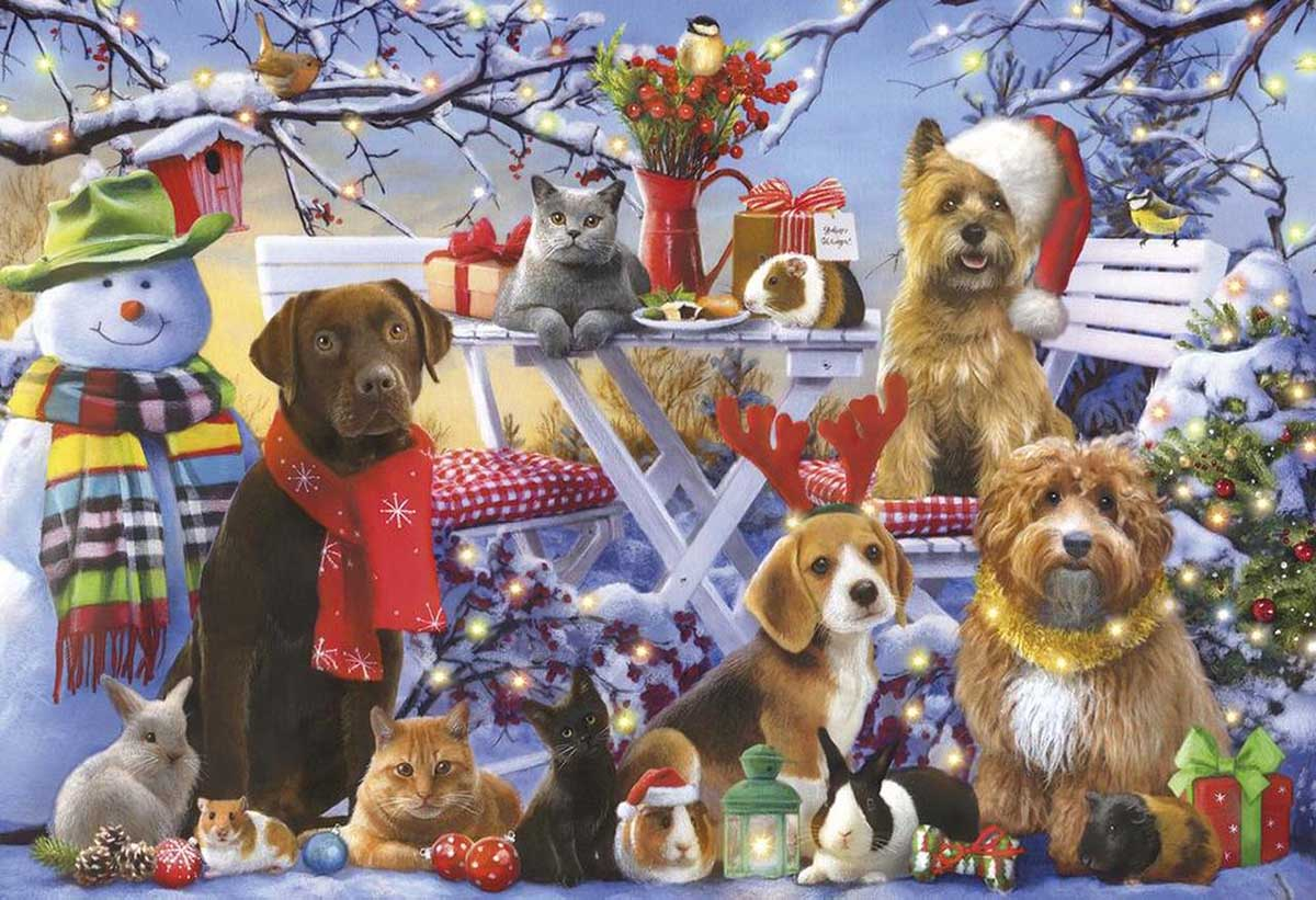 Festive Friends Cats Jigsaw Puzzle
