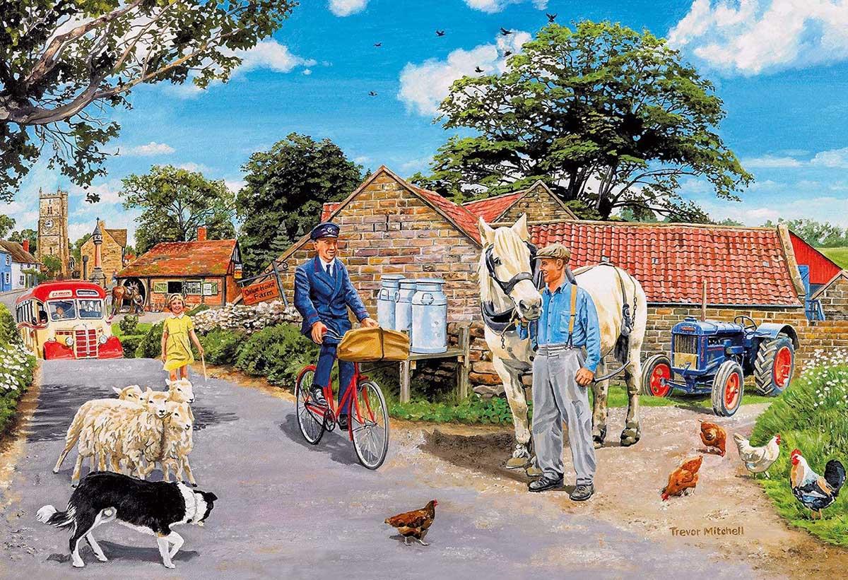 Olive House Farm Farm Jigsaw Puzzle