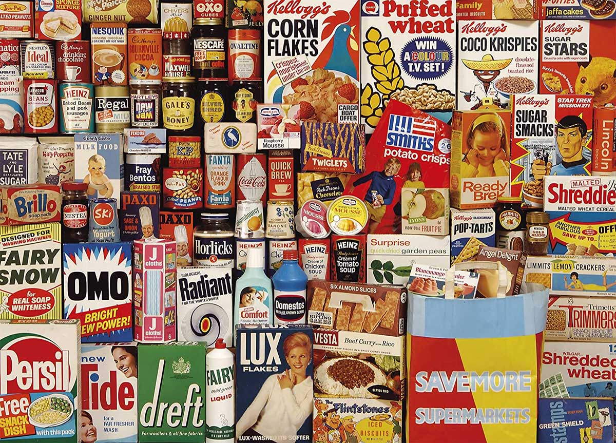 Shopping Basket Food and Drink Jigsaw Puzzle