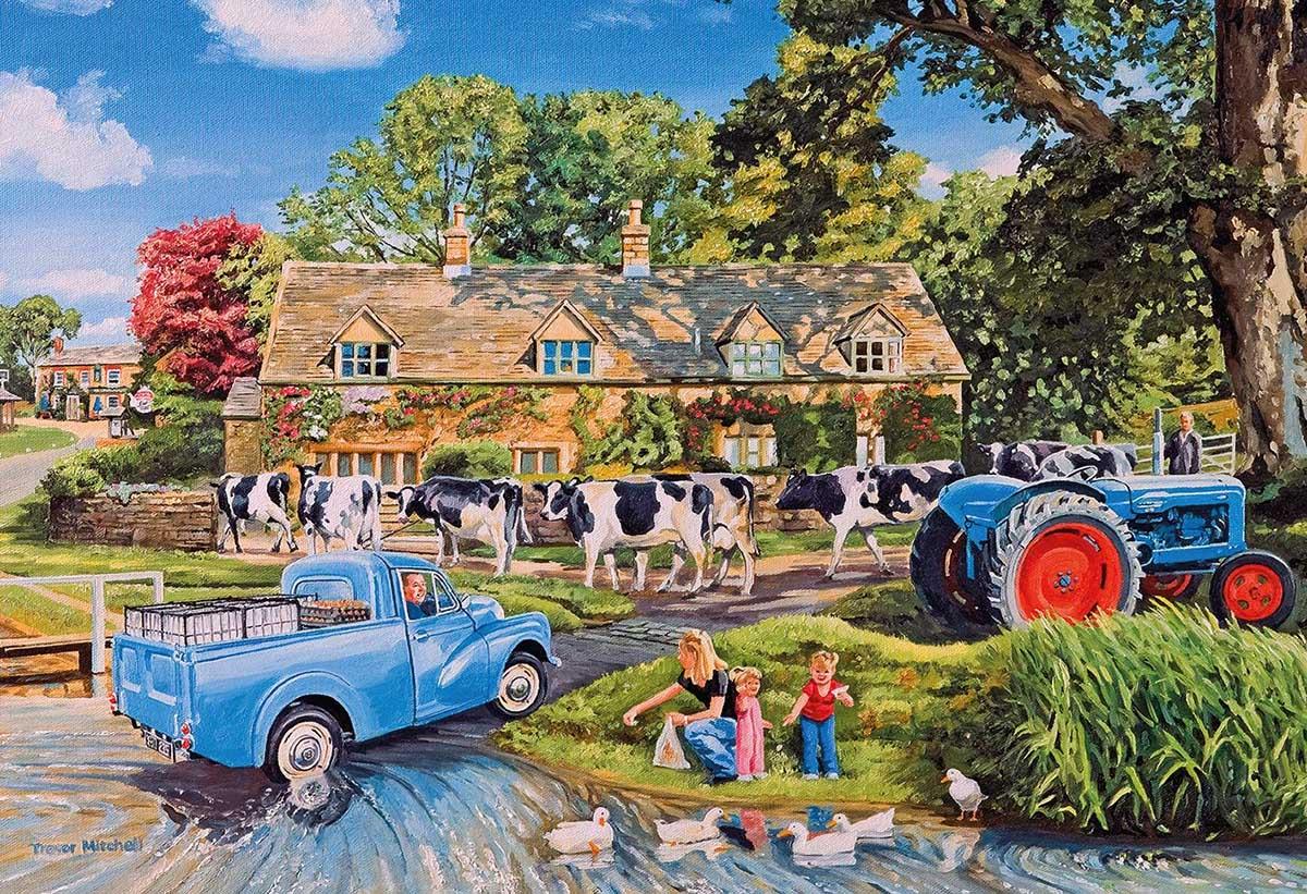 Milk on the Move Farm Jigsaw Puzzle
