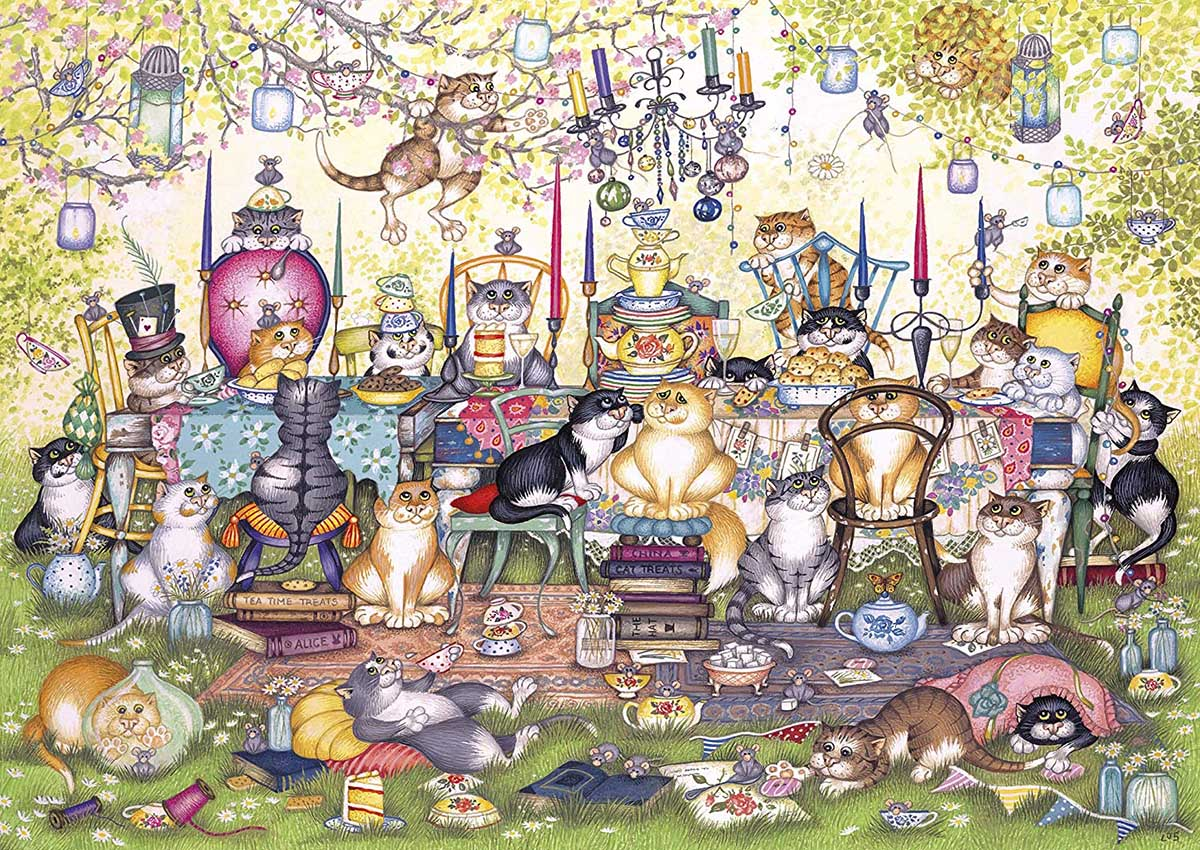 Mad Catter's Tea Party Cats Jigsaw Puzzle
