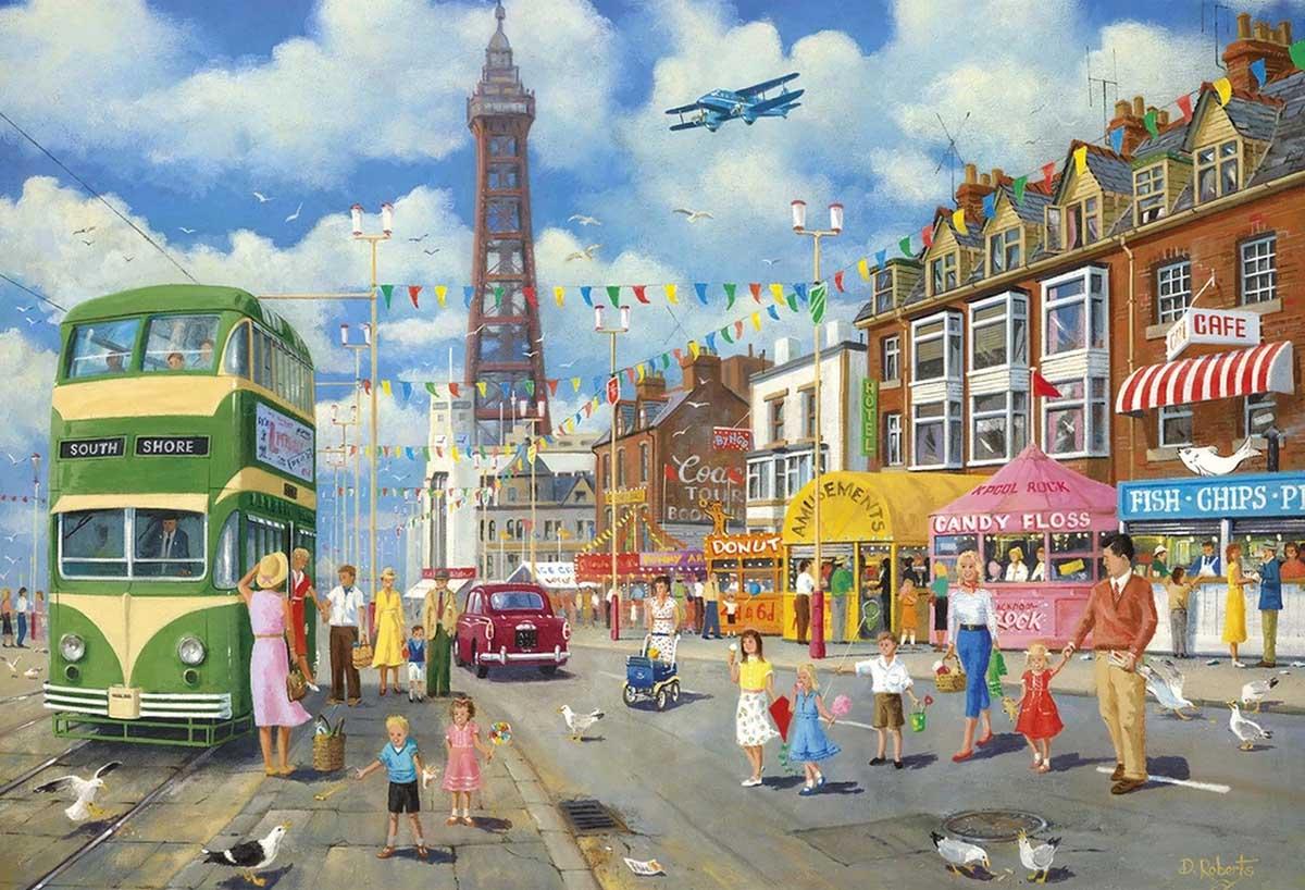 Blackpool Promenade Summer Jigsaw Puzzle