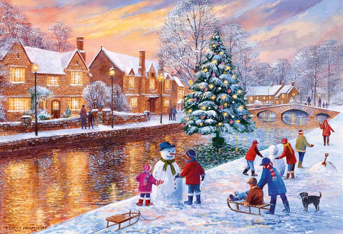 Bourton at Christmas Christmas Jigsaw Puzzle