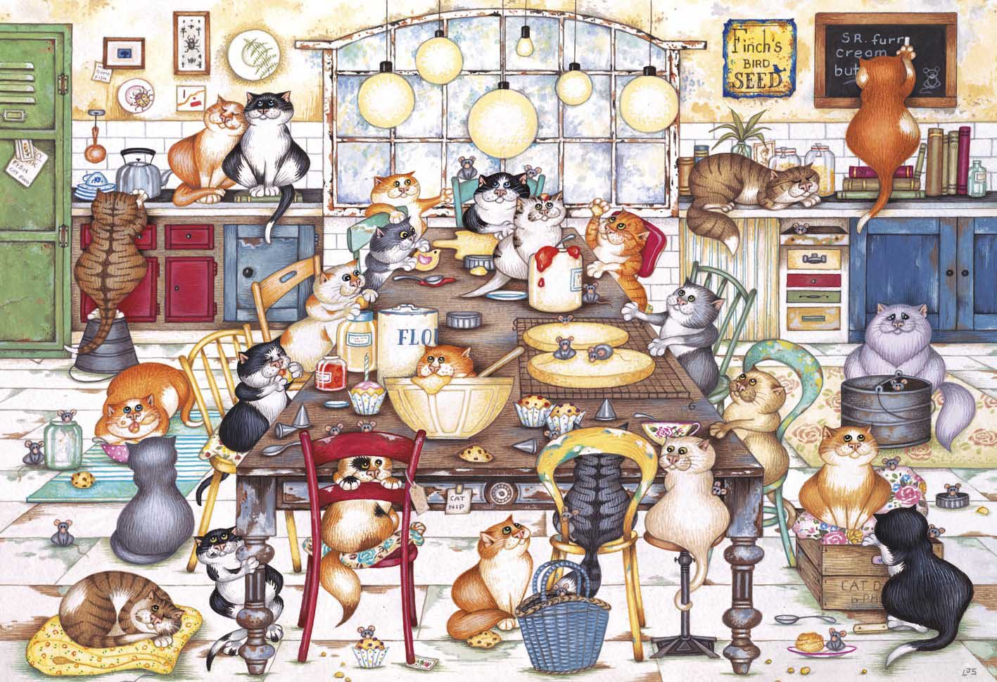 Cat's Cookie Club - Scratch and Dent Cats Jigsaw Puzzle