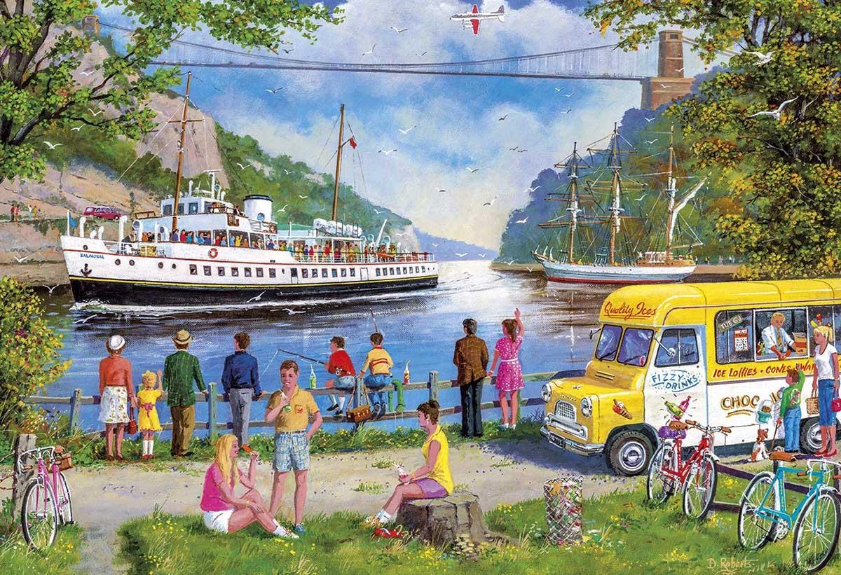 Clifton Bridge, Bristol - Scratch and Dent Boats Jigsaw Puzzle