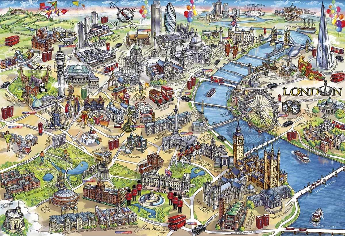 London Landmarks Landmarks / Monuments Jigsaw Puzzle