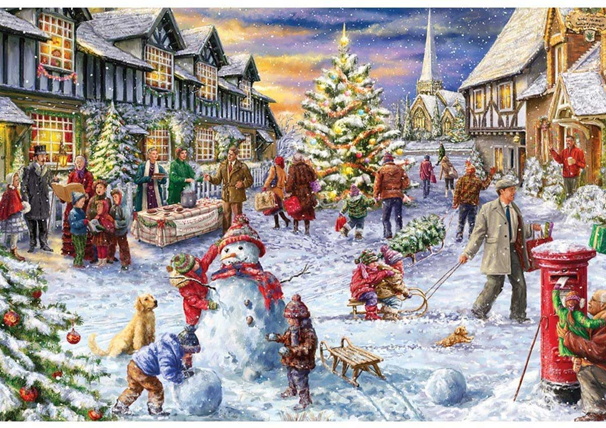 A White Christmas People Jigsaw Puzzle