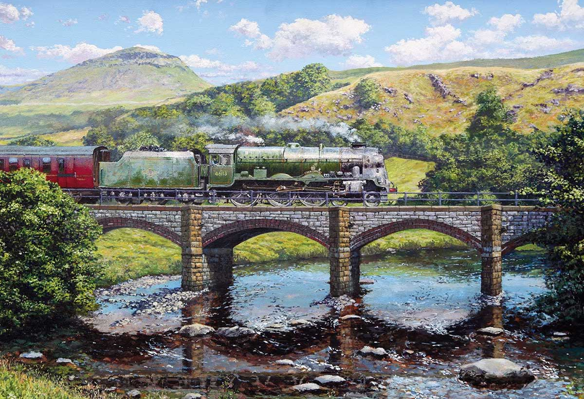 Crossing the Ribble Trains Jigsaw Puzzle