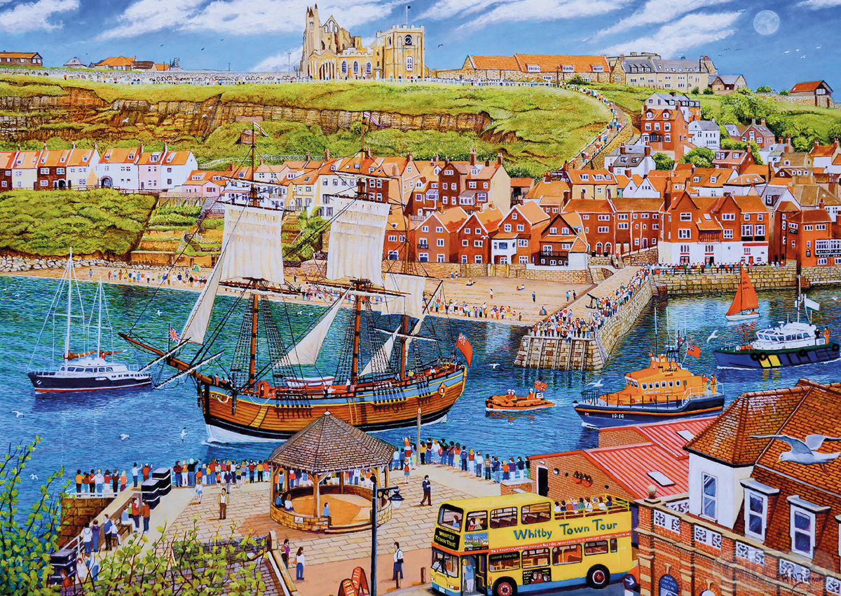 Endeavour Whitby Boats Jigsaw Puzzle