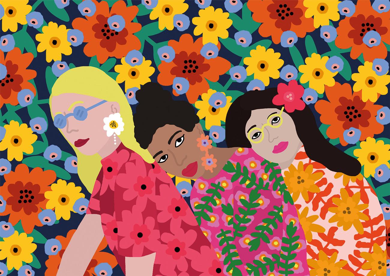 Three Women People Jigsaw Puzzle