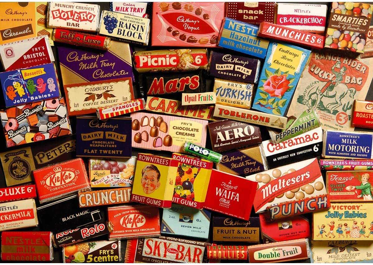 1950S Sweet Memories Gift Tin Nostalgic / Retro Jigsaw Puzzle