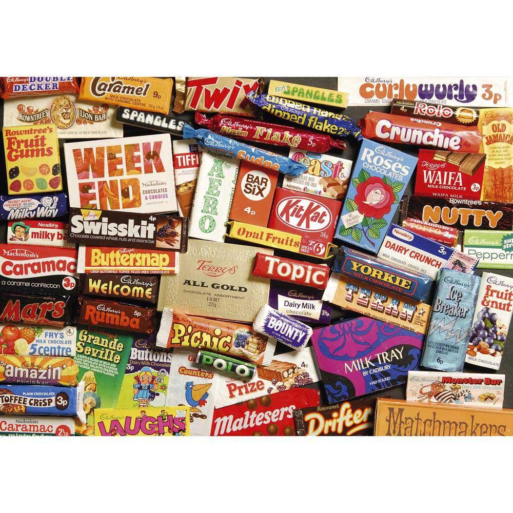 1970S Sweet Memories Gift Tin Nostalgic / Retro Jigsaw Puzzle
