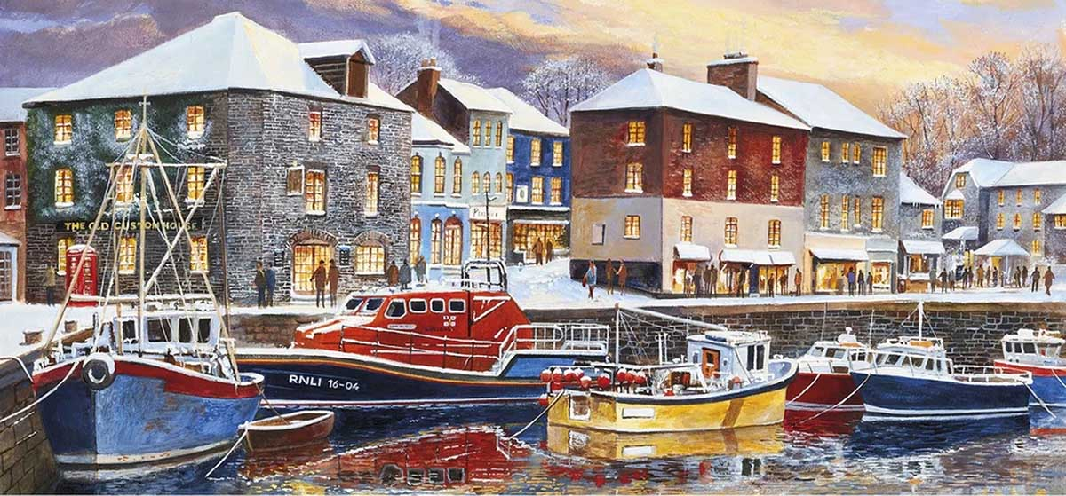 Padstow in Winter Winter Jigsaw Puzzle