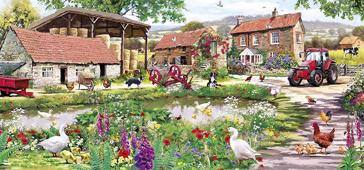 Duckling Farm Animals Jigsaw Puzzle