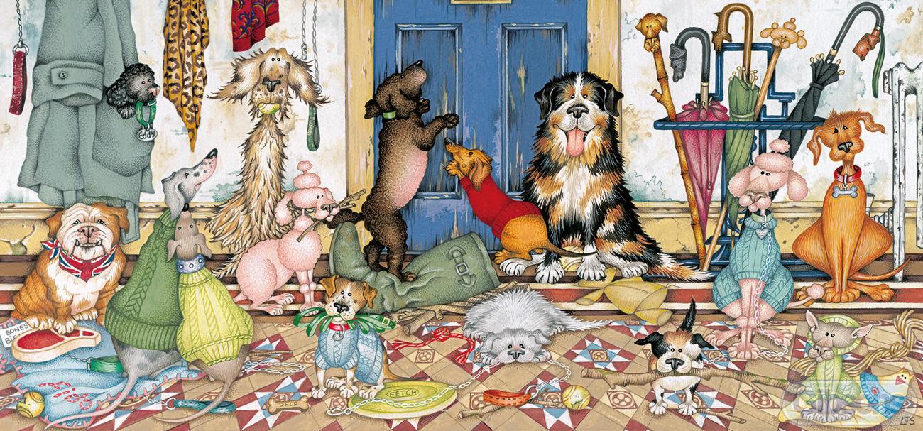 Walkies Dogs Jigsaw Puzzle