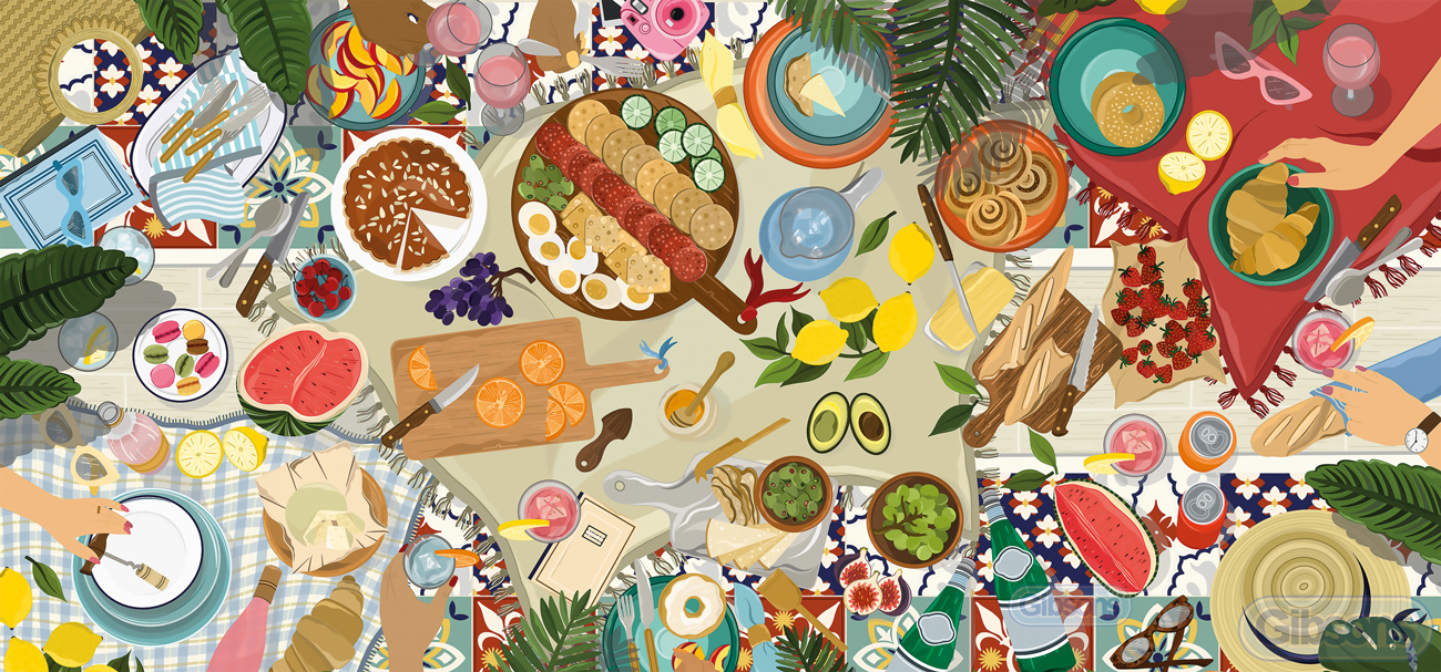 Dream Picnic Food and Drink Jigsaw Puzzle