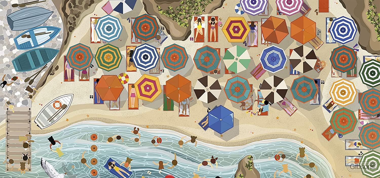 Italian Riviera Beach Jigsaw Puzzle