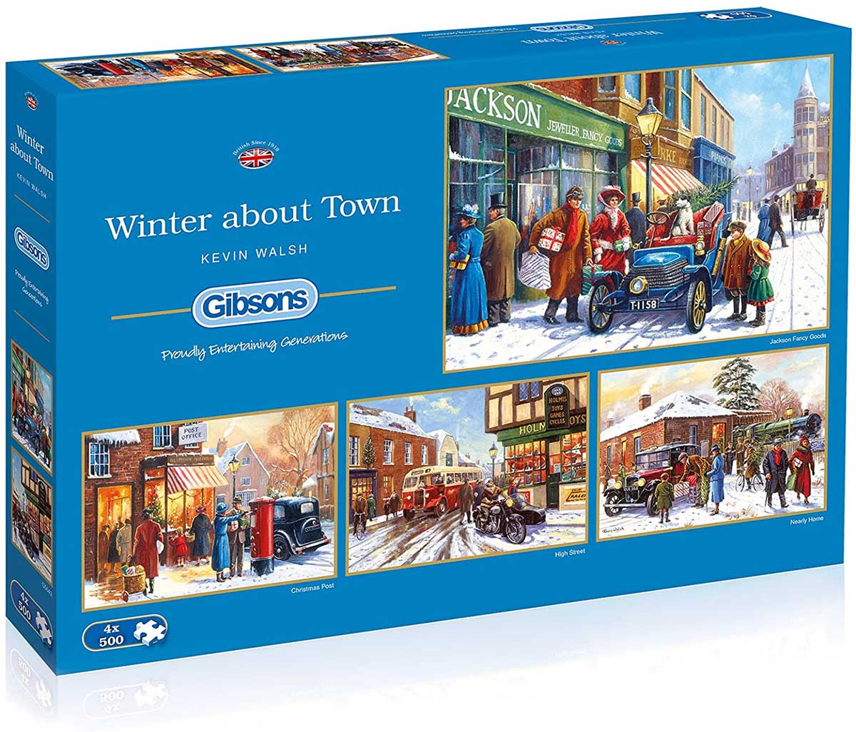 Winter About Town Winter Jigsaw Puzzle