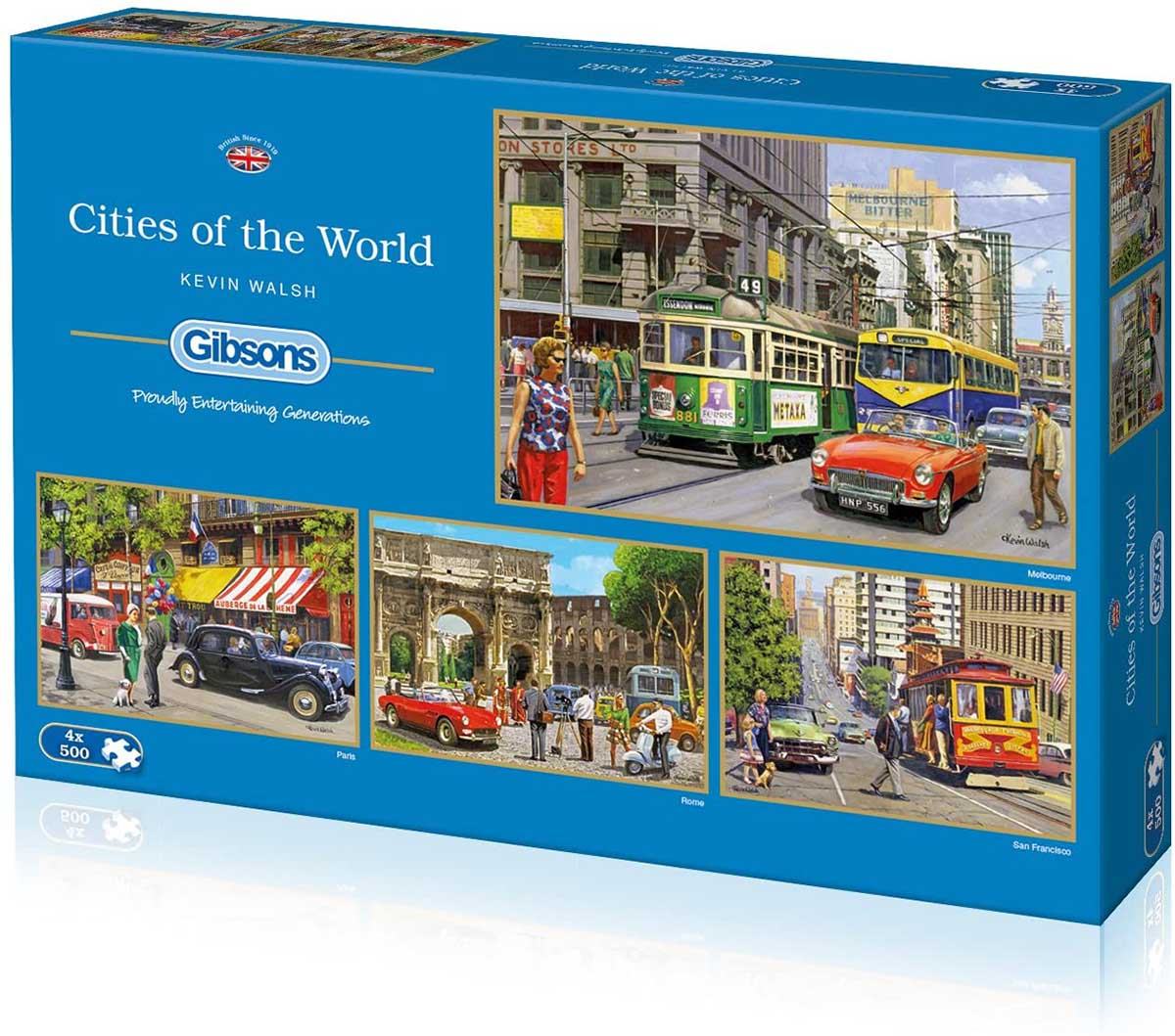 Cities of the World Travel Jigsaw Puzzle