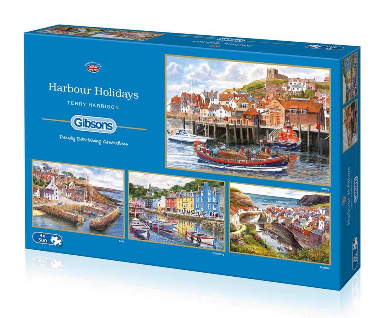 Harbour Holidays Boats Jigsaw Puzzle