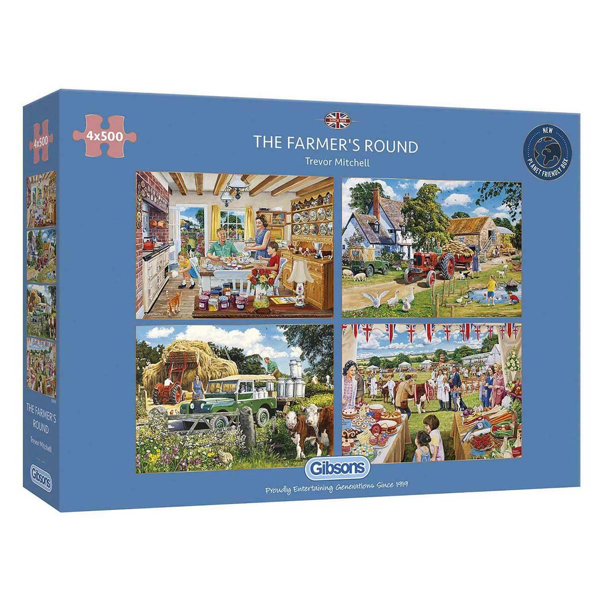 The Farmer's Round Farm Jigsaw Puzzle