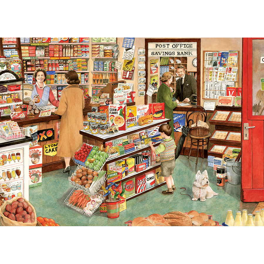 The Village Shop Nostalgic / Retro Jigsaw Puzzle