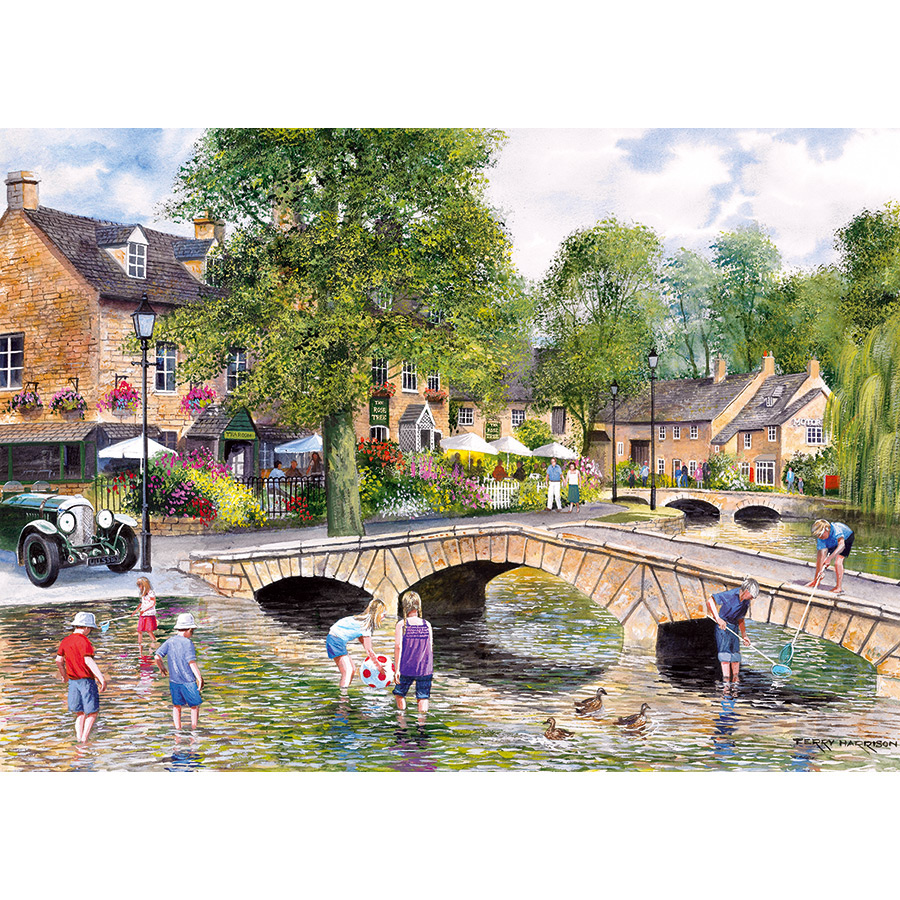 Bourton on the Water Landscape Jigsaw Puzzle