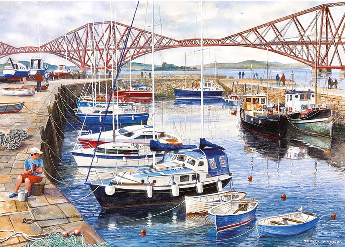 Queensferry Harbour Boats Jigsaw Puzzle