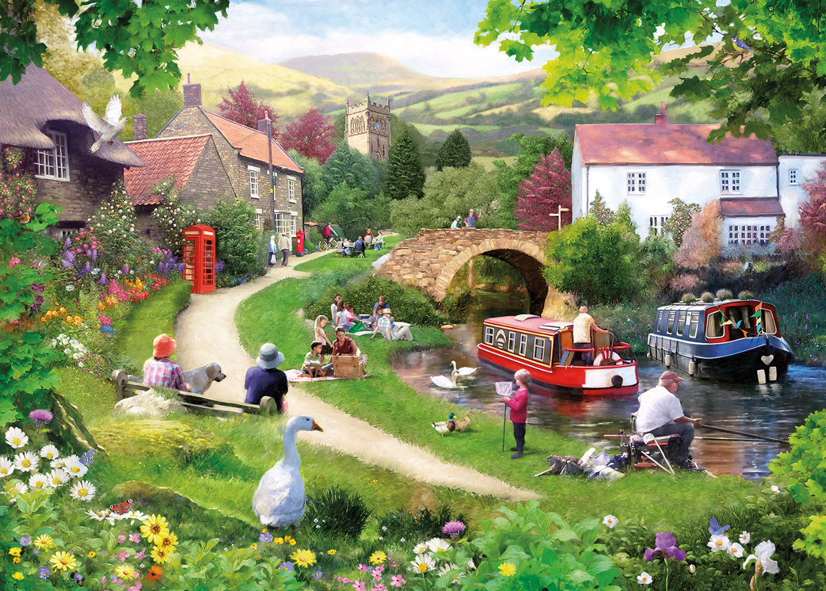 Life in the Slow Lane Countryside Jigsaw Puzzle